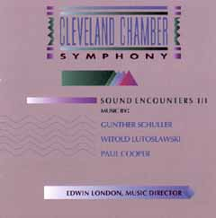 Sound Enounters III - The Cleveland Chamber Symphony